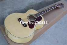 Hot sale China Factory custom 43 inch 20 frets 12 strings natural wood folk plywood acoustic guitar with red pearl pickguard