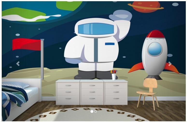 Custom papel de parede infantil, Spaceman Childrens Wallpaper Murals for children room living room TV wall vinyl papel DE parede<br>
