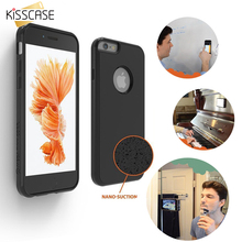 KISSCASE Anti-Gravity Selfie Sticky Soft Silicone Phone Case Cover For iPhone 7 7 Plus 6 6S Plus 5 5S SE For Samsung S6 S7 Edge