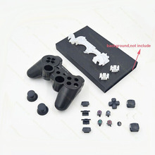 10set/lot Repair Parts game console Housing Case Shell with Full Buttons Accesories kits for PS3 Controller(China)
