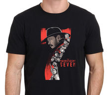 T Shirt Hot Topic Sleeve Men'S Crew Neck Magnificent 7 New Movie Denzel Washington Size: S-To-Xxl Short Compression T Shirts(China)