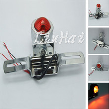 Chrome Brake / Running / Tail light Plate For Dual Sport Custom Quad Chopper motorcycle(China)