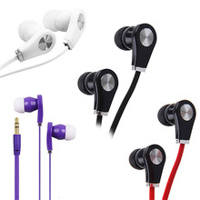 Mayitr New Style In ear Headphones Colorful Noise Canceling Earphone and Bass Headset with Flat Cable For Smartphone MP3 Player