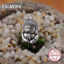 BALMORA 100% Real 925 Sterling Silver Jewelry Religious Jewelry Buddha Pendants for Necklaces Men Accessories Gifts SY12358(China)