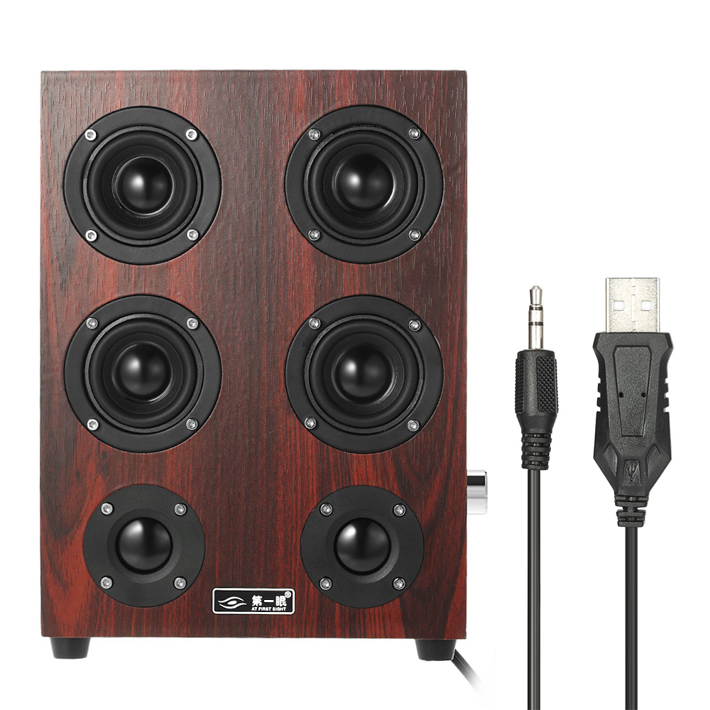 AT FIRST SIGHT 3.5mm Home Speakers Plug and Play USB Powered Wired Laptop Speakers Enhanced Bass Subwoofer Sound Box(China (Mainland))