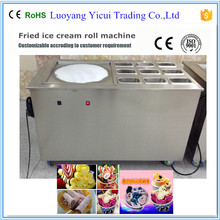 Brand new hot sale flat pan fried ice cream roll machine with good price