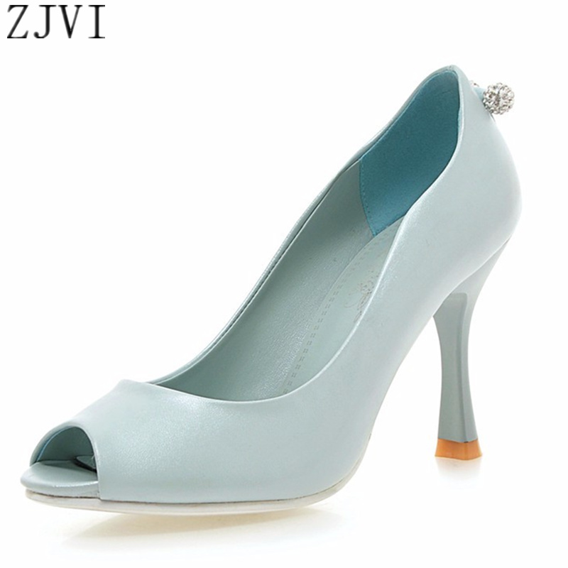 ZJVI Fashion Women thin high heels Pumps ladies summer woman shoes womens sexy shoes female casual open peep toe party shoes<br><br>Aliexpress