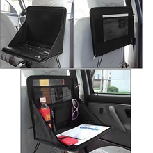 Folding Table Oxford cloth Car Back Seat Storage Tidy Organiser DVD Laptop Holder Tray Travel(China)