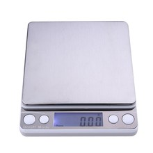 500g x 0.01g Precision Digital Pocket Gram Scale Stainless Steel Platform Jewelry Weight Electronic Balance Kitchen Scale MFBS