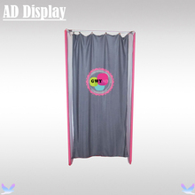 High Quality Trade Show Booth Lightweight Tension Fabric Fitting Room With Single Side Printed Banner,Portable Dressing Room