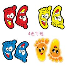 Buy Color cartoon Pair feet pattern wall stickers bathroom cabinet bathroom floor tiles bedroom kids room nursery stickers for $6.64 in AliExpress store
