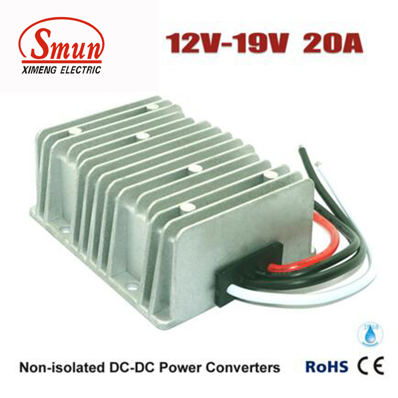 SMUN 12V to 19V 20A DC-DC Converter Step Up Voltage Regulator<br>