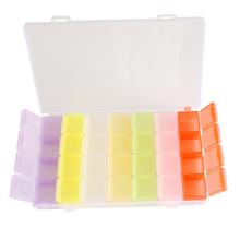 New Arrive Storage Boxes Colorful plastic Box Jewelry Box Wedding Gift Home Storage Bin Earrings Ring box EJ893667(China)