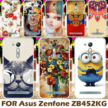 Painted Hard Plastic Case For Asus Zenfone GO Case Covers  2nd Gen ZB452KG ASUS_X014D ZB450KL 4.5 inch Protective Shell Coque