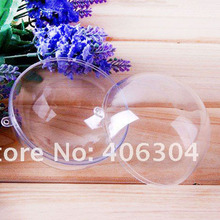 Free shipping,12cm transparent hanging christmas ball/baubles,clear plastic christmas ornaments,shop window display(China)