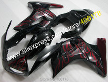 Hot Sales,Red Flame SV 650 03-13 Fairings For Suzuki SV650 SV650S 2003-2013 ABS Road Aftermarket Motorcycle Fairings Kit(China)