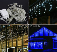 4M 144LED Icicle led Light curtain Fairy String Lamp female&male connector waterproof controller f/Party xmas Wedding decoration