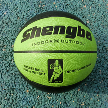 Indoor Outdoor Green Black Training Ball PU Leather Anti-Skid Official Size7 Basketball Equipment With Pin Bola De Basqu