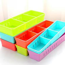 For All Kinds of Small Items Adjustable Drawer Organizer Kitchen Cutlery Divider Case Makeup Storage Box Separate Compartments(China)
