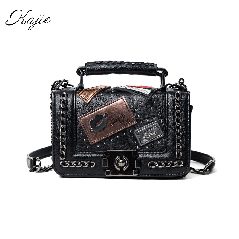 Kajie Vintage Messenger Bags Famous Brand Designer PU Leather Handbag Chain Shoulder Luxury Women Crossbody Bag Shoulder Ttote <br><br>Aliexpress