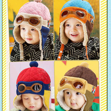 2017 Autumn Winter Hot Sale Toddlers Warm Cap Hat Beanie Cool Baby Boy Girl Kids Infant Winter Pilot Cap(China)