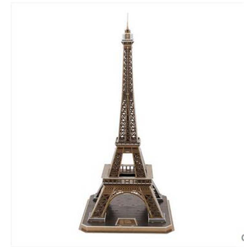 Cubicfun 3D Puzzle Toys Eiffel Tower Model MC091h 36*39*78cm Childrens Gift<br><br>Aliexpress