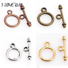 Wholesale 30 Sets Antique Silver Toggle Clasp Hooks Connectors for Bracelets Jewelry Making