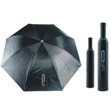 Fashion Three Folding Wine Bottle Umbrella J2Y(China)