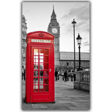 London Big Ben Landscape Posters Silk Canvas Fabric Image Home Decoration Rooms Well Designed Wallpaper Posters FJ368(China)