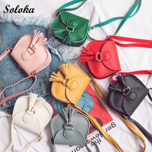 Women Messenger Bags Candy Color Crossbody Handbags School Clutch Shoulder Bags Tassel Pendent Mini Girl Bag
