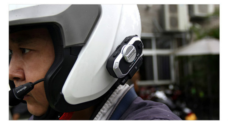 Motorcycle Helmet Bluetooth Headset Vimoto V8 850mAh Multi-function BT Interphone Motorbike Stereo Headphones for Two Way Radios