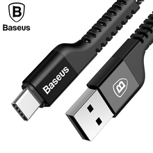 Baseus USB Type C Cable Fast Charging Charger Cord Data Sync USB C Type-c Cable Samsung Oneplus 3 2 USB-C Wire Cable Adapter