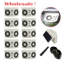 Wholesale best price Air Vent Cool fan Car Solar Power Fan Auto Cooler Ventilation 10 pcs For car window(China)