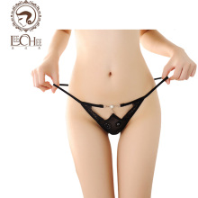 Buy Leechee N222 latex lingerie sexy hot erotic women panties Lace Pearl hollow thong sexy thin underwear perspective porn custom