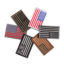 American Flag Embroidered Patch Patriotic USA Military Patches for Clothing Apparel Sewing Craft Fabric Badge Accessories