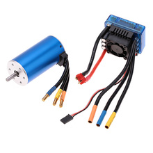 3670 1900KV 4P Sensorless Brushless Motor with 120A Brushless ESC Electric Speed Controller for 1/8 1/10 RC Auto Car Truck Parts