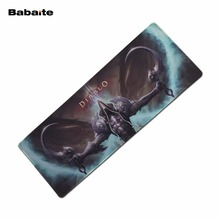 Babaite Shop Mouse pad XL 900*300 mm Natural rubber gamer mouse pads Locking Edge Keyboard mouse mat For Diablo Dota2 CS:GO