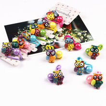 Buy 6 PCS Cute Resin Animal Auspicious Owl Kids Elastic Hair Bands Baby Headdress Children Hair Ropes Girls Hair Accessories for $2.90 in AliExpress store