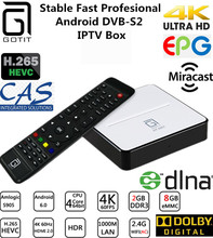 GOTiT GT2017 Android TV Box DVB-S2 Satellite Receiver AmlogicS 905 Chipset, 2G DDR 8G Flash Quad core with BT 4.0 Smart TV Box(China)