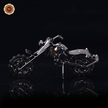 WR Iron Motorcycle Model Toys Car Creative Toys for Children Educational Toys Christmas Gifts New Year Wedding Decoration