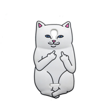 For Alcatel 5010 Hot Pocket White Cat Soft Silicon Case For Alcatel One Touch Pixi 4 5.0 OT 5010 5010D Back Cover Phone Case(China)