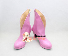 Code Geass Nunnally Vi Britannia Nunnally Pink Girls Cosplay Shoes Boots X002(China)