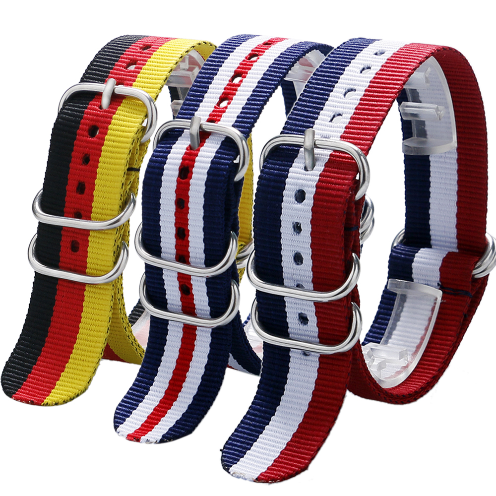 Germany/Dutch/American Flag Design Watch Band Watches Strap 20/22MM Free Shipping<br><br>Aliexpress