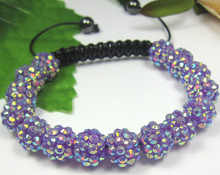 New ! MTUKOYF hot micro pave CZ Disco RESIN Crystal Shamballa Bracelet fasion Giftjewelry Discount.(China)