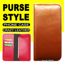 Phone Commercial Wallet Style flip case for Explay Light case cover leather Crazy Horse Purse Pouch Protecive Shell Light Explay