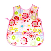 Baby Aprons Kids Feed Food Baby Bibs Waterproof Cartoon Pattern EVA Transparent Feeding Clothes