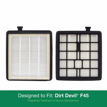 2 - Dirt Devil F45 (F-45) HEPA Replacement Filters, Part # 2KQ0107000. Designed to fit Dirt Devil Vision Pet Canist(China)