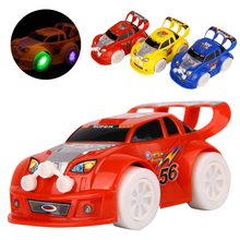 Best Gift Stunning universal Turning 3Colors Plastic Cute Toy Cars for Child Electric Toy Car Model Kids Toys for Boys WJ301(China)