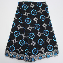 Special Offer Black African Fabric For Women Dress African Swiss Voile Lace High Qualiey  African Dresses For Women
