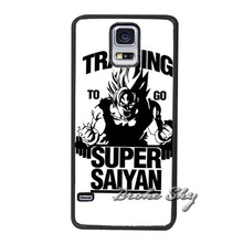 Training to go Super Saiyan Dragon Ball Z Case Cover for Galaxy S3 S4 S5 Mini S6 S7 edge Note 2 3 4 A3 A5 A7 J5 J7 2016 E5 E7